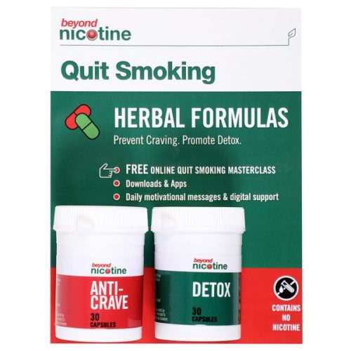 Beyond Nicotine Herbal Capsules with free online Quit smoking masterclass.